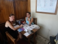 Learning the basics of Spanish in our school in Manta